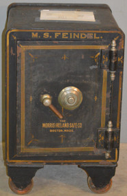18851 Victorian Cast Iron Safe with Combination