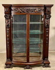 19858 Carved Oak China Cabinet- R.J. Horner