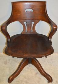 19619 Oak Unusual Lawyers Swivel and Tilt Victorian Office Chair