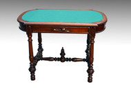 SOLD Walnut Victorian Library Table Writing Desk