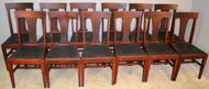 19560 Set of 12 Mahogany Dining Chairs – 1920s