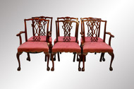 SOLD Set of Six Mahogany Chippendale Ball and Claw Dining Chairs
