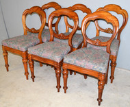 19644 Set of 6 French Balloon Back Dining Chairs