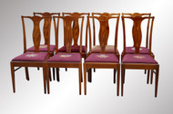 SOLD Set of Eight Inlaid Formal Mahogany Dining Room Chairs