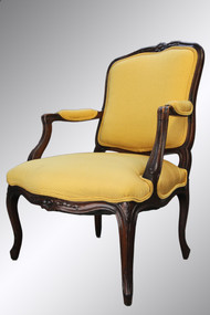SOLD Antique French Walnut Victorian Arm Chair