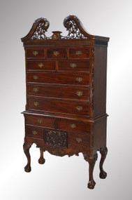 SOLD Chippendale Carved Mahogany Chest on Chest-FANCY
