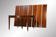 SOLD Banquet Dining Round Mahogany Inlaid Table with 7 Leaves
