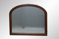 SOLD Victorian Walnut Incise Carved Large Mantle Mirror