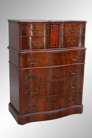 SOLD Flame Mahogany Formal Tall Chest
