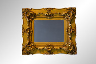SOLD Antique Gold Period Carved Picture Frame Mirror