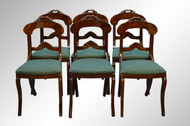 SOLD Antique Period Flame Mahogany Empire Dining Chairs