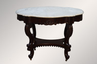 SOLD Antique Victorian Rosewood Marble Top Turtle Top Parlor Table REDUCED PRICE!