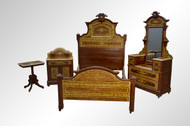 SOLD Antique Victorian Hand Decorated Pine Bedroom Set-Civil War Era