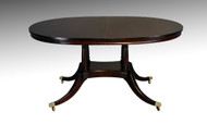 SOLD Oval Mahogany Dining Table w/2 Leaves