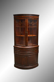 SOLD Mahogany Corner China Cabinet