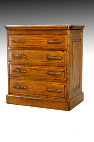 SOLD Antique Oak Companion File Cabinet