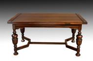 SOLD Carved Oak Drawer Leaf Computer Table / Conference Table