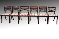 SOLD Set of Six Duncan Phyfe Mahogany Dining Chairs