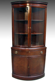 SOLD Mahogany Corner China Closet