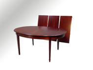 SOLD Oval Mahogany Banquet Dining table w/3 leaves