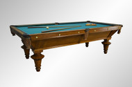 SOLD Antique Fantastic Victorian Tiger Oak Billiards Pool Table