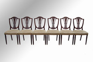 SOLD Set of 6 Mahogany Duncan Phyfe Dining Chairs