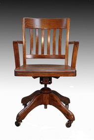 SOLD Tiger Oak Lawyer's Swivel Office Chair