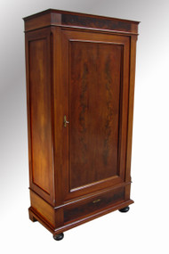 SOLD Biedermeier Flame Mahogany Wardrobe