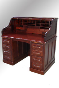 SOLD Antique Mahogany Lawyer's Victorian Roll Top Desk