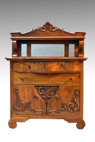SOLD Antique Oak Carved Server