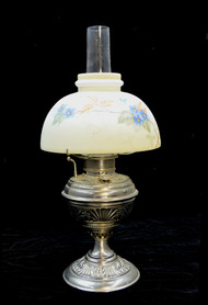 SOLD Victorian Nickel Plated Rayo  Lamp