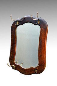 SOLD Oak Larkin Hanging Hat or Hall Mirror
