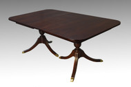 SOLD Mahogany Duncan Phyfe Dining Table w/1 Leaf