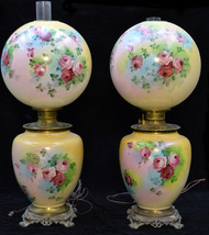 SOLD Pair of Rare Matching Jumbo Gone With The Wind Lamps