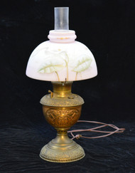 SOLD Brass Embossed Victorian Rayo Aladdin Lamp
