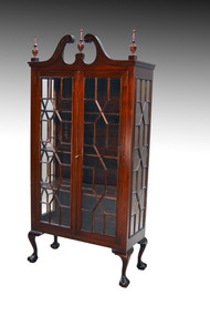 SOLD Antique Mahogany Chippendale Ball and Claw China Closet