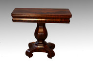 SOLD Antique Empire Mahogany Game Table-Civil War Era!