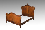 SOLD Antique French Cherry Carved Bed
