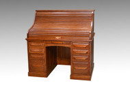 SOLD Antique Victorian Oak Roll Top Desk by Cutler