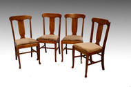 SOLD Set of 4 Oak Dining Chairs – Refinished and Beautiful