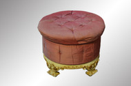 SOLD French Carved Decorated Ottoman Foot Stool Hassock