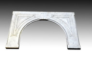 SOLD Antique Victorian White Carrera Marble Fireplace Surround Raised Panel
