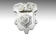SOLD Antique Marble Top Victorian Center Crest Carved