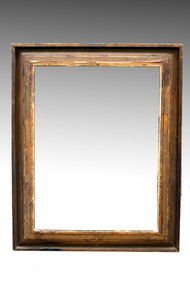 "SOLD Oversize Gold Carved Mirror Frame - 63"" tall"