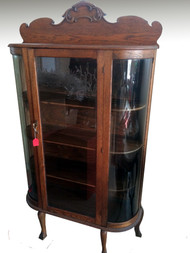 SOLD Antique Oak Curio / China Cabinet