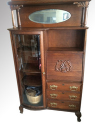 SOLD  Antique Oak Side by Side Secretary Desk by Larkin