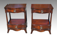 SOLD Pair of Duncan Phyfe Mahogany Night Stands By Drexel