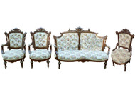 SOLD Four Piece Jellif Style Parlor Set