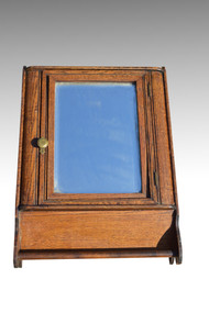 SOLD  Antique Oak Victorian Medicine Wall Cabinet
