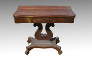 SOLD Empire Civil War Era Game Table Carved Base